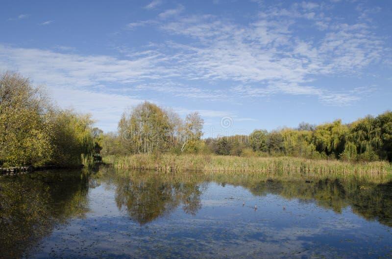 Sás-sjön i Matraen royaltyfri fotografi