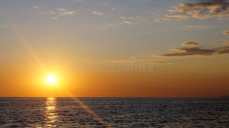 Sunset and Black Sea stock photo