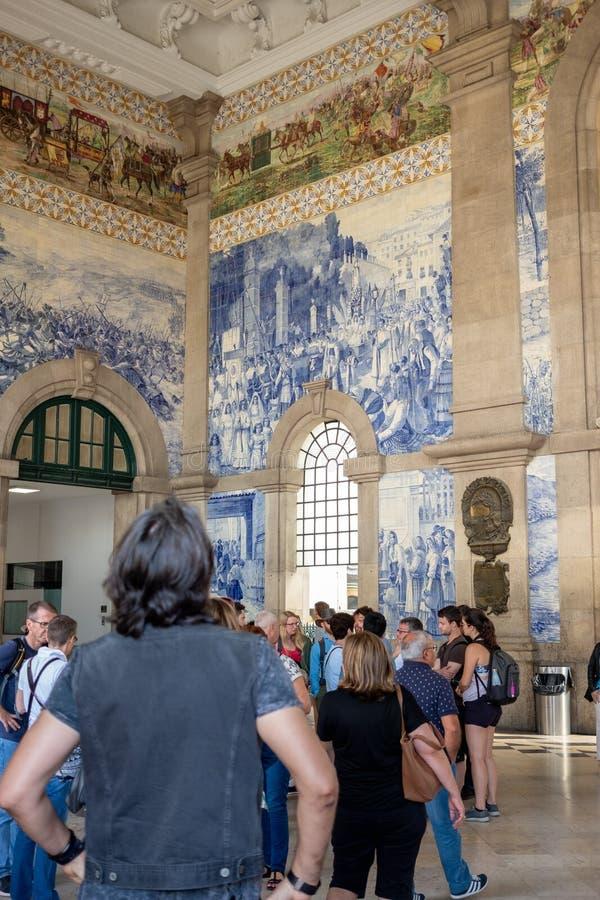 São Bento Train Station, Porto fotos de stock royalty free