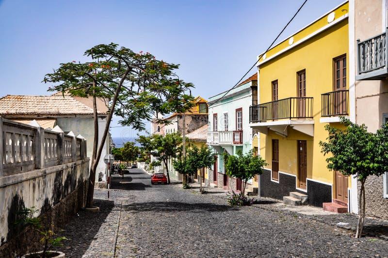 São Filipe, Fogo, Kaapverdië stock foto's