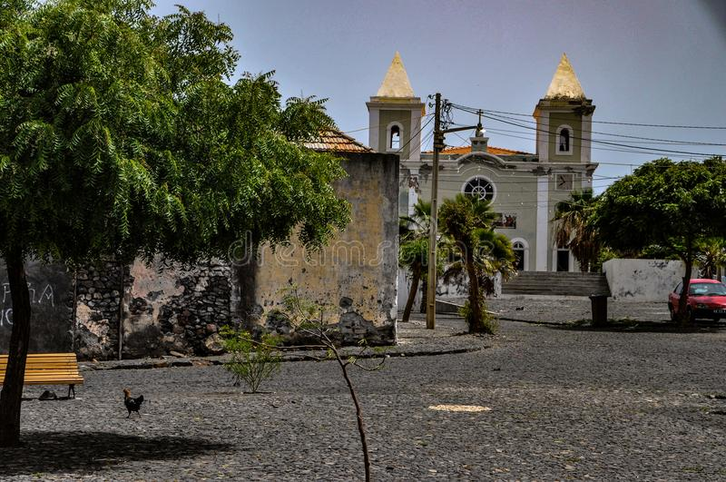 São Filipe, Fogo, Kaapverdië stock afbeelding