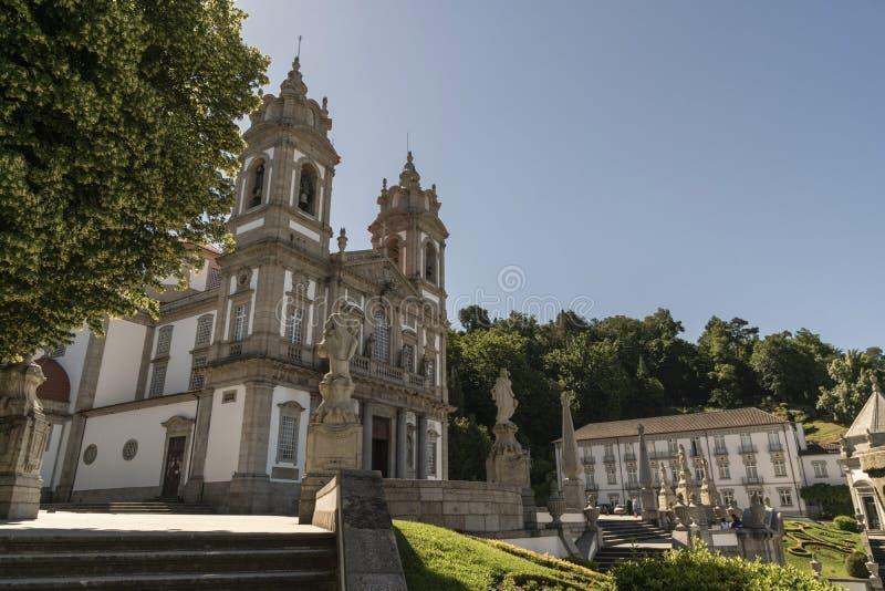 Sé de Braga, Portugalia ` s stara katedra, lokalizować w mieście o obraz stock