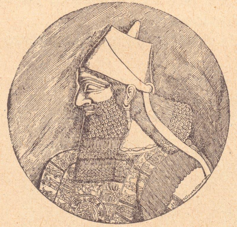 Sénnachérib de Assyrian-koning vector illustratie