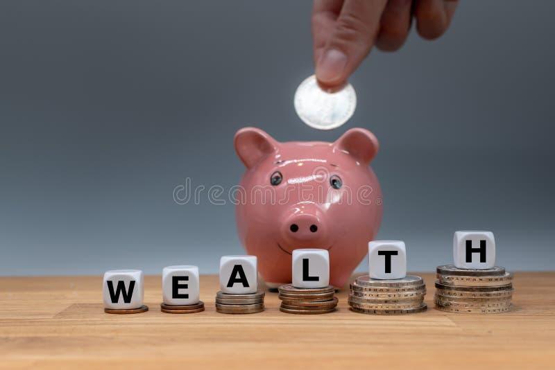 Símbolo para a riqueza crescente fotografia de stock royalty free