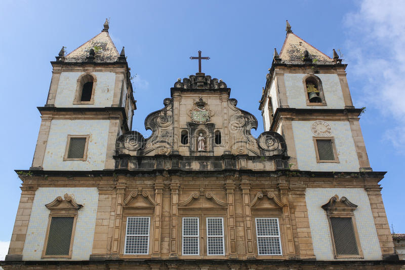 São Francisco kościół i klasztor, Pelourinho, Salvador, Bahia obrazy stock