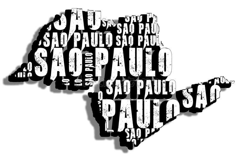São Paulo do mapa imagem de stock royalty free