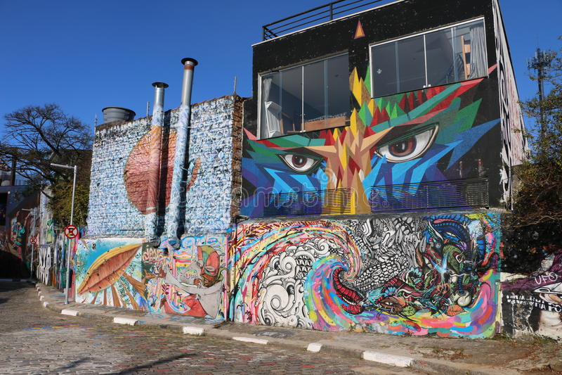 São Paulo Street Art, São Paulo, Brasil fotos de stock