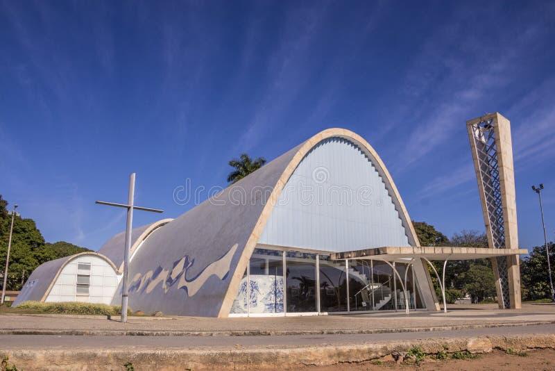 São Francisco De Assis kościół - Pasmpulha jezioro zdjęcie royalty free