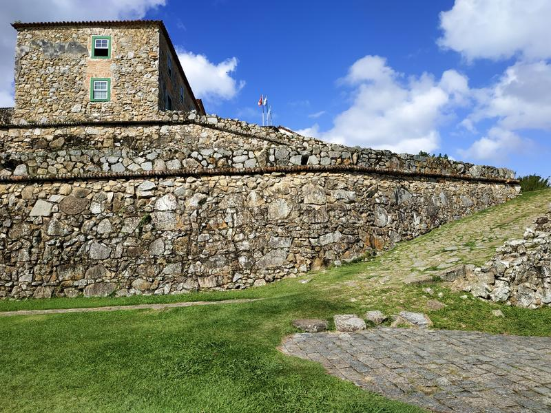 18th Century São José da Ponta Grossa Fortress, Florianópolis, State of Santa Catarina, Brazil. São José da Ponta Grossa Fortress is located royalty free stock photography