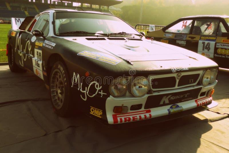 São Marino 21 de outubro de 2017 - Lancia 037 na reunião a legenda fotos de stock