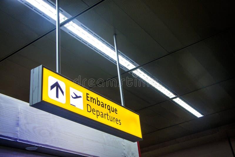 São paulo lotnisko międzynarodowe - Brazylia zdjęcia royalty free