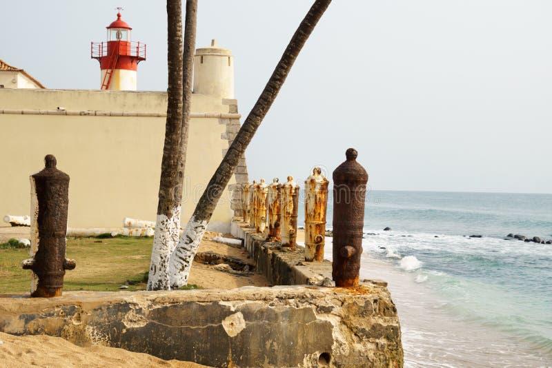 São Tomé och Príncipe fort royaltyfri bild