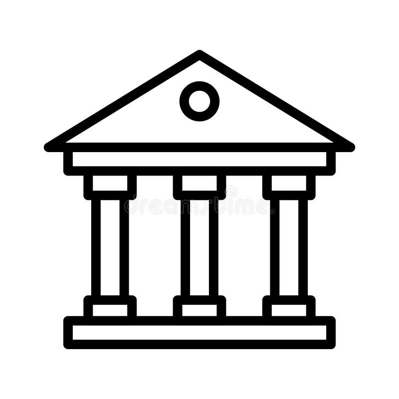 Sąd cienka kreskowa wektorowa ikona royalty ilustracja
