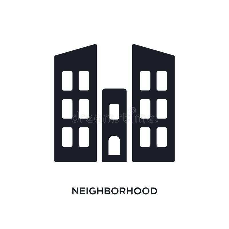 sąsiedztwo odosobniona ikona prosta element ilustracja od nieruchomości pojęcia ikon sąsiedztwo logo znaka editable symbol royalty ilustracja