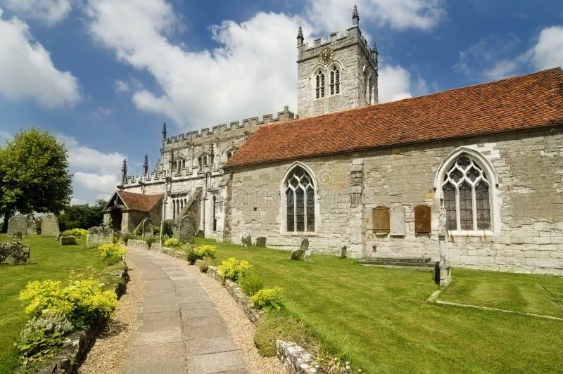 Sächsische Kirche des achten Jahrhunderts in England lizenzfreie stockbilder