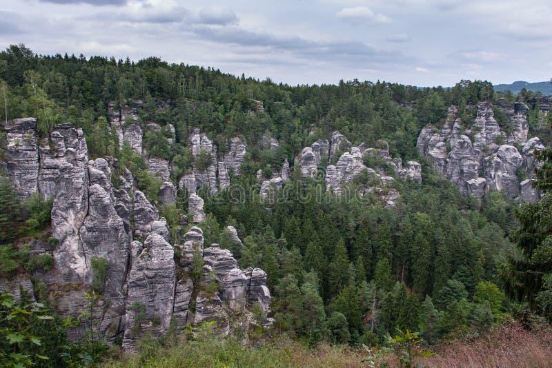 Sächsischer die Schweiz-Nationalpark lizenzfreie stockfotos