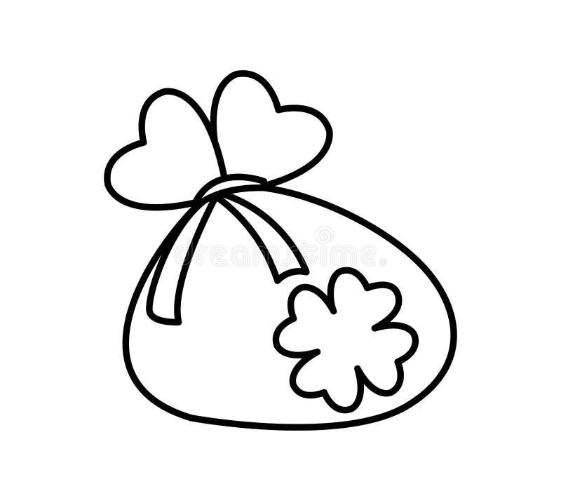 Säckmynt med dag för växt av släktet Trifoliumhelgonpatricks stock illustrationer
