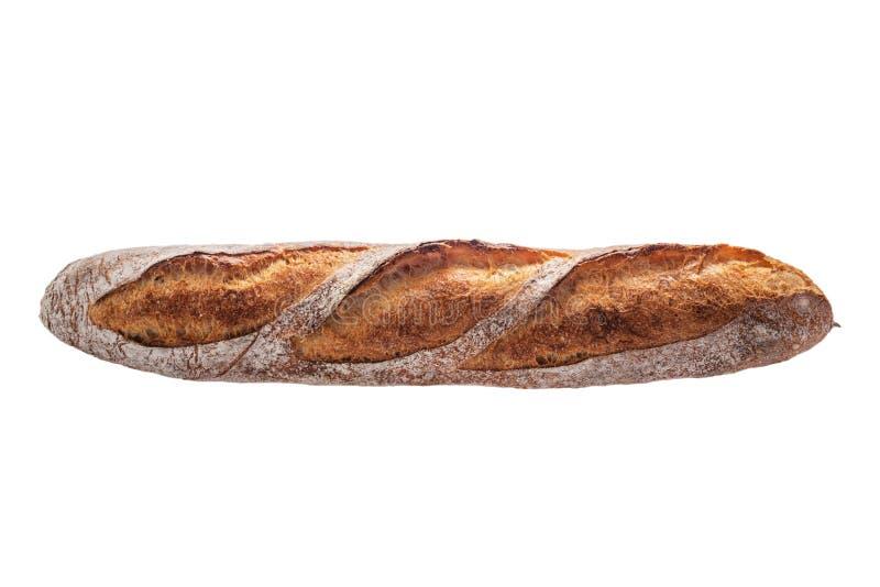 säckpipe- Nytt bakat bröd som isoleras på vit bakgrund arkivfoton