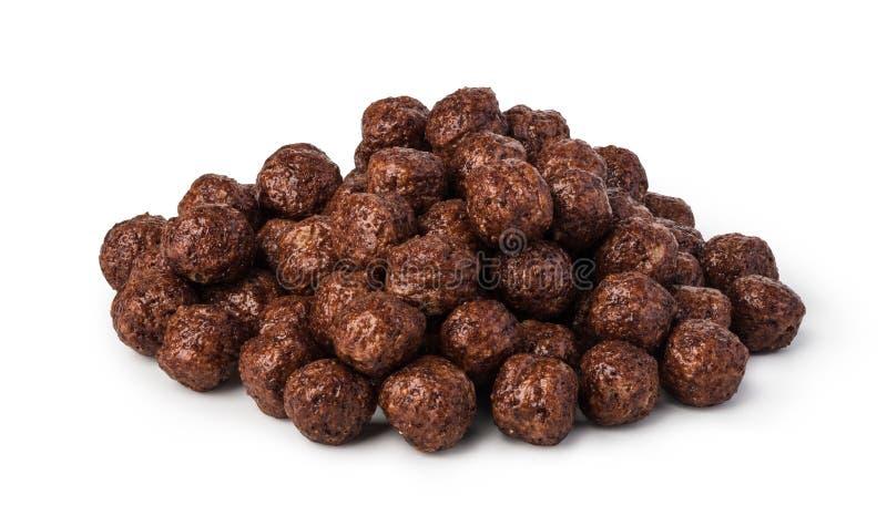Sädes- chokladbollar arkivbild