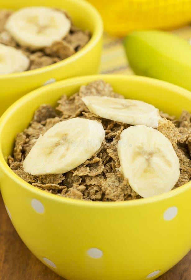 Sädesslag och banan arkivfoto