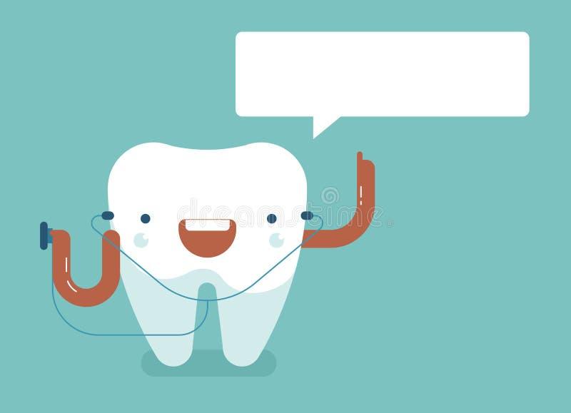 Säga för tand av det tand- begreppet royaltyfri illustrationer