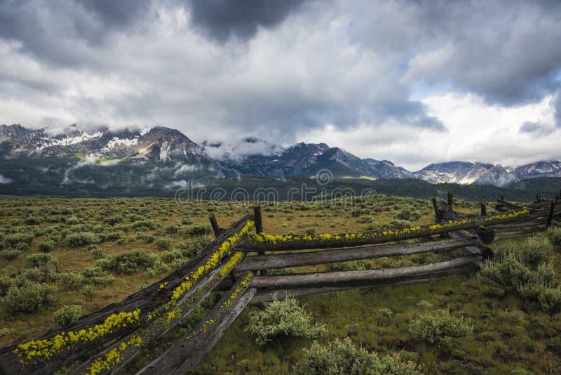 Sägezahn-Gebirgszug, Idaho stockbild