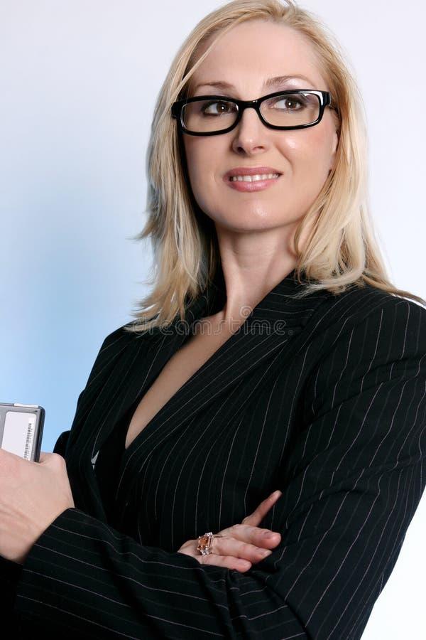 säker affärskvinna royaltyfria foton
