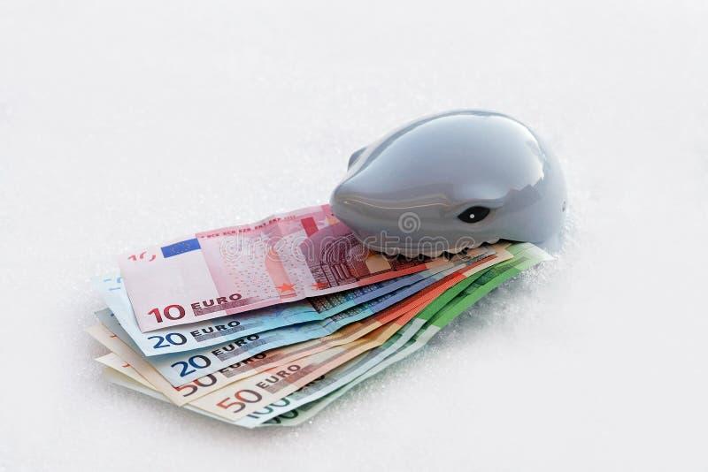 Säker eller osäker investering Finansiell risk och otrygg investering arkivbilder