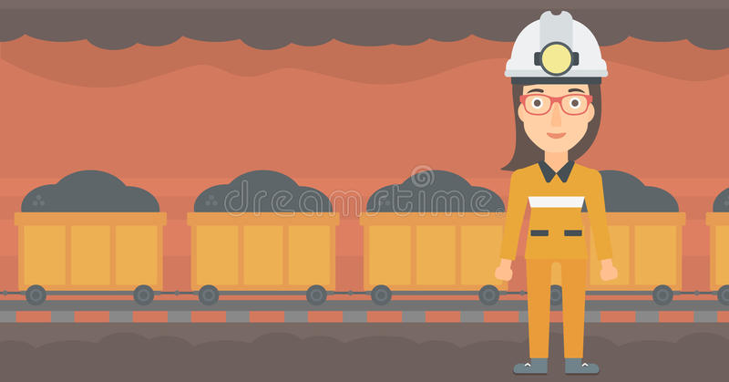 Säker gruvarbetare i hardhat vektor illustrationer