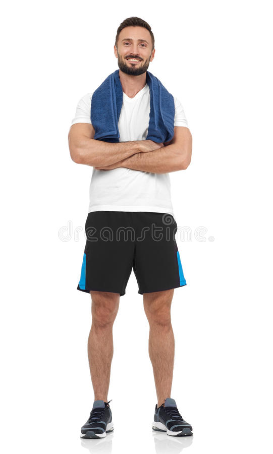 Säker idrottsman royaltyfri fotografi