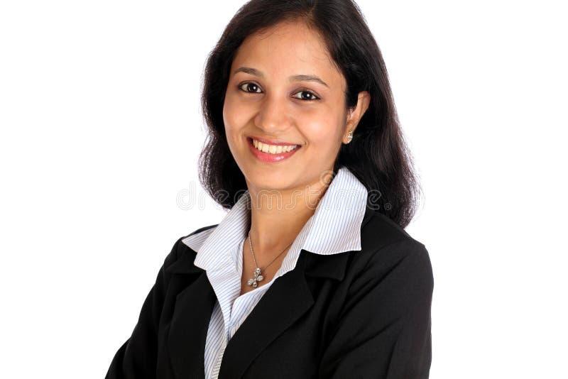 säker indisk kvinna för affär arkivbilder