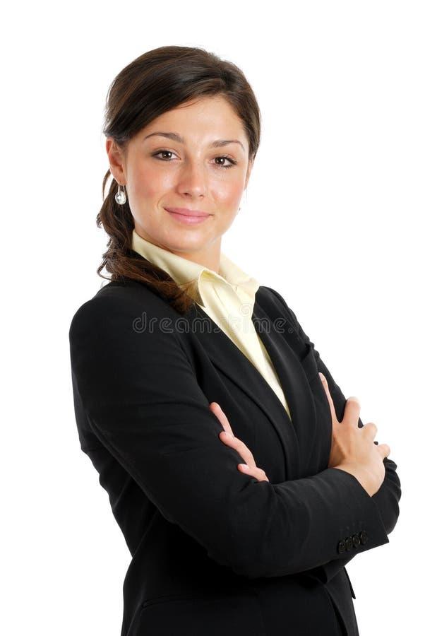säker kvinna för affär arkivfoto