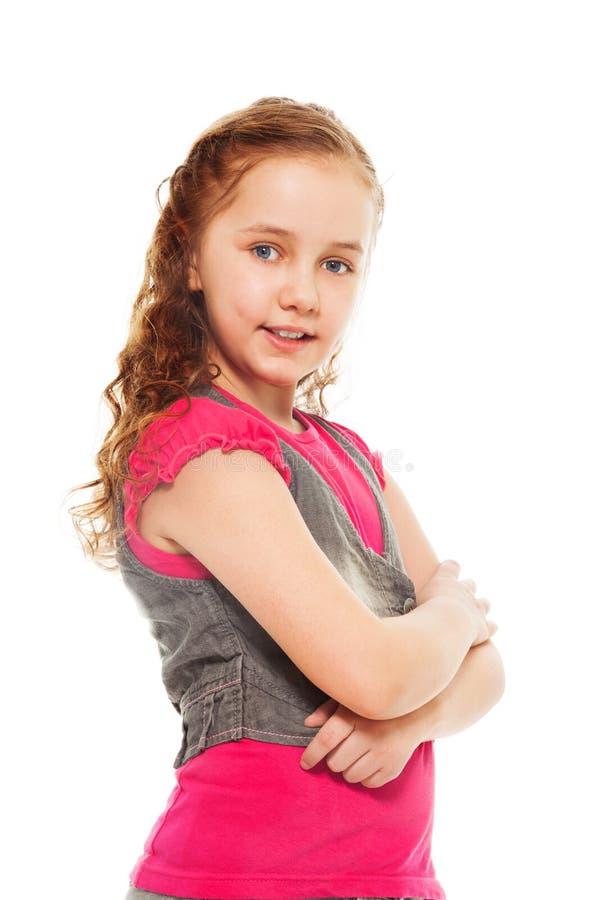 Säker liten flicka royaltyfri fotografi