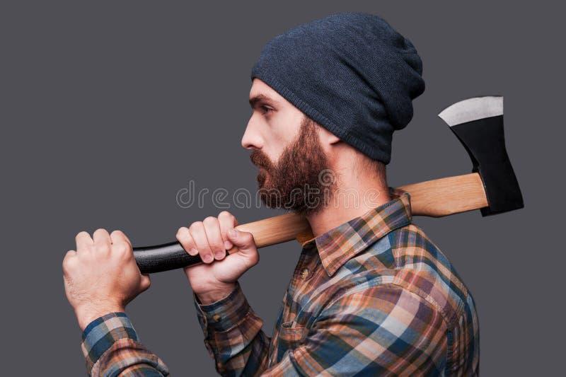 säker lumberjack arkivbilder