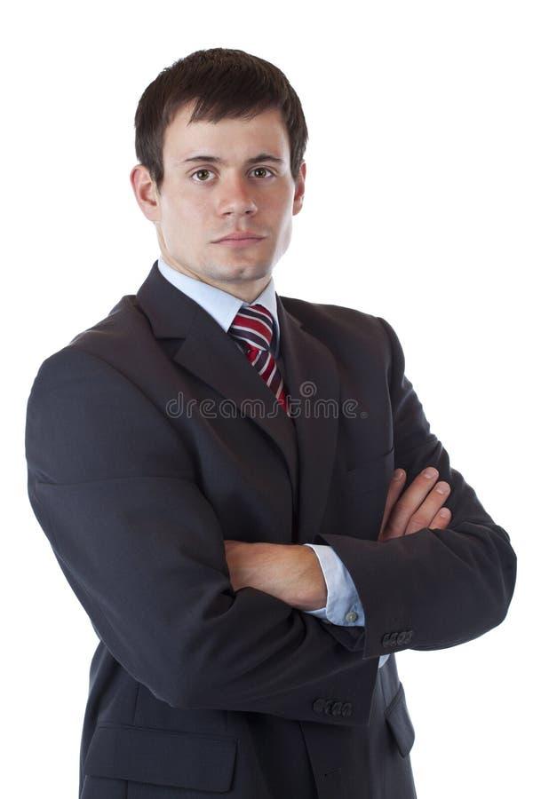 säker lyckad lookssjälv för affärsman royaltyfri foto