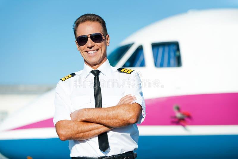 Säker pilot arkivfoto