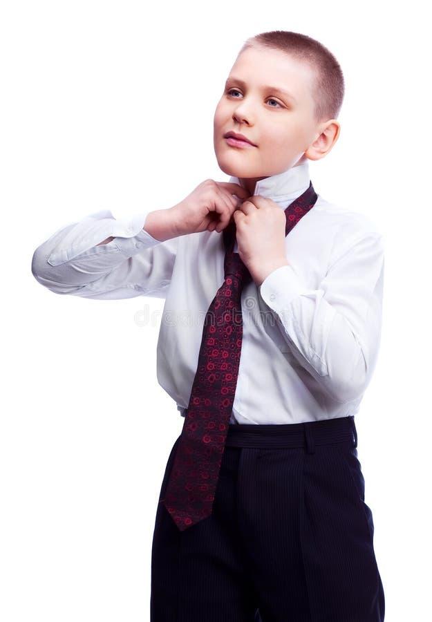 säker pojke royaltyfri foto