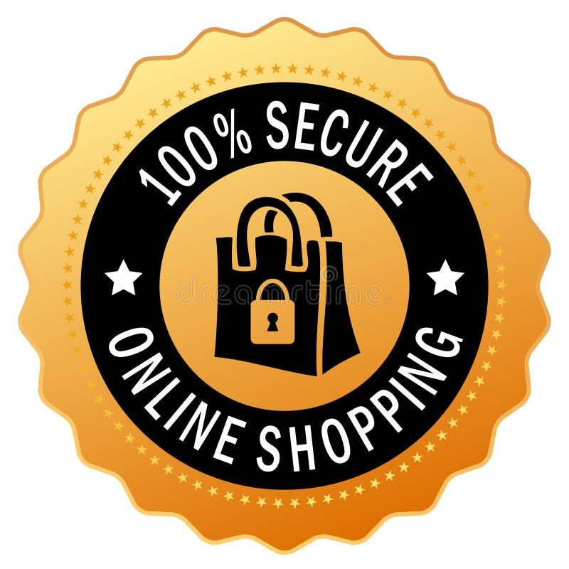 säker shopping för symbol stock illustrationer