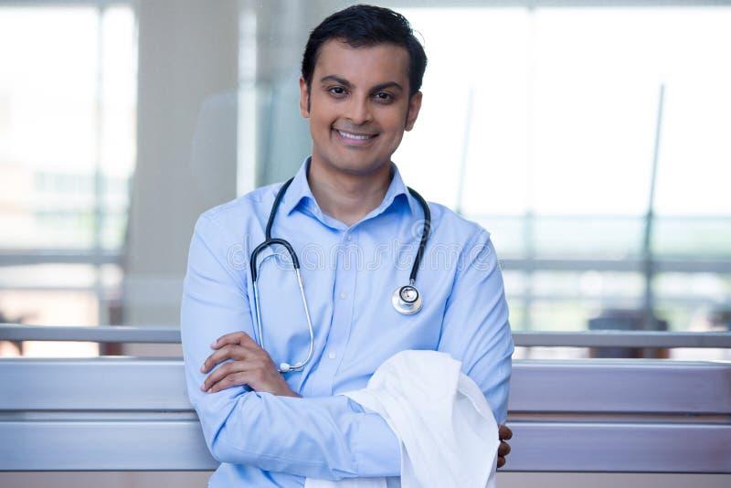 Säker sjukvårdprofessionell arkivfoto