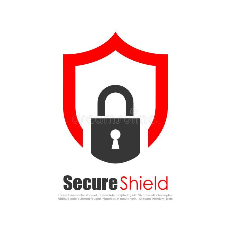 Säker skyddsabstrakt begrepplogo vektor illustrationer