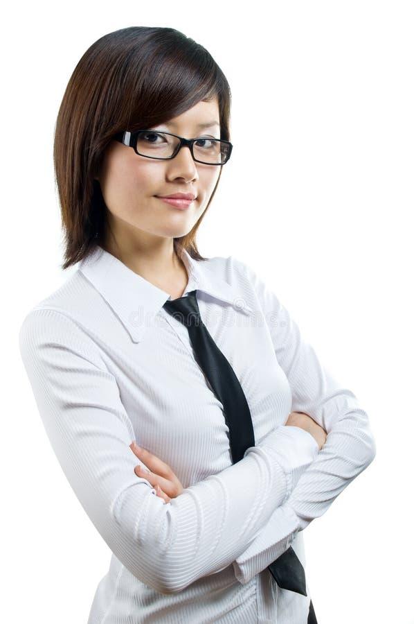säker stående för affärskvinna arkivfoton