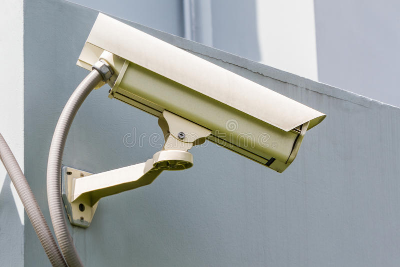 Säkerhet eller cctv-kamera arkivbilder