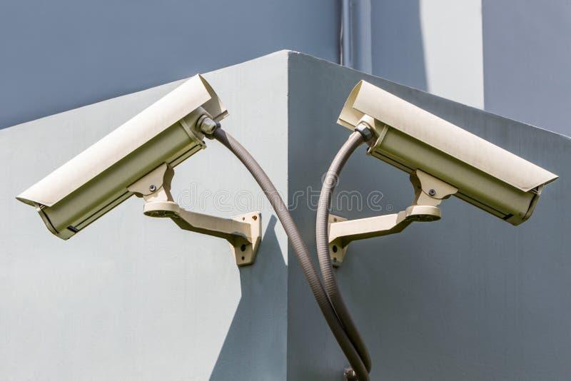 Säkerhet eller cctv-kamera royaltyfri fotografi