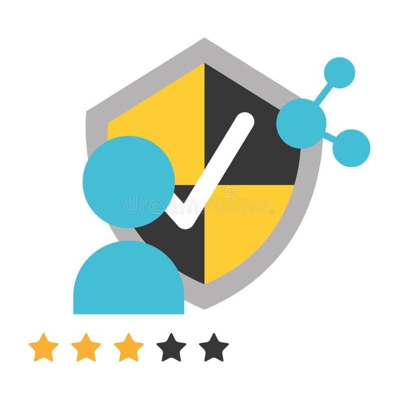 Säkerhet för data för aktie för Avatarsköldskydd royaltyfri illustrationer