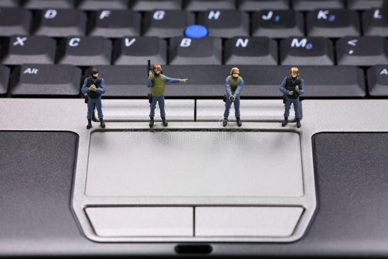 säkerhet för datorbegreppsdata royaltyfri bild