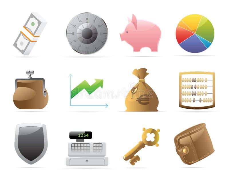 säkerhet för finanssymbolspengar royaltyfri illustrationer