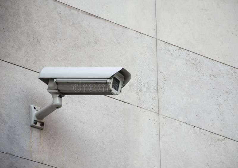 säkerhet för kameracopyspace alldeles arkivfoton