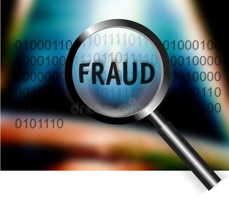 säkerhet för utredning för begreppsfokusbedrägeri royaltyfri illustrationer