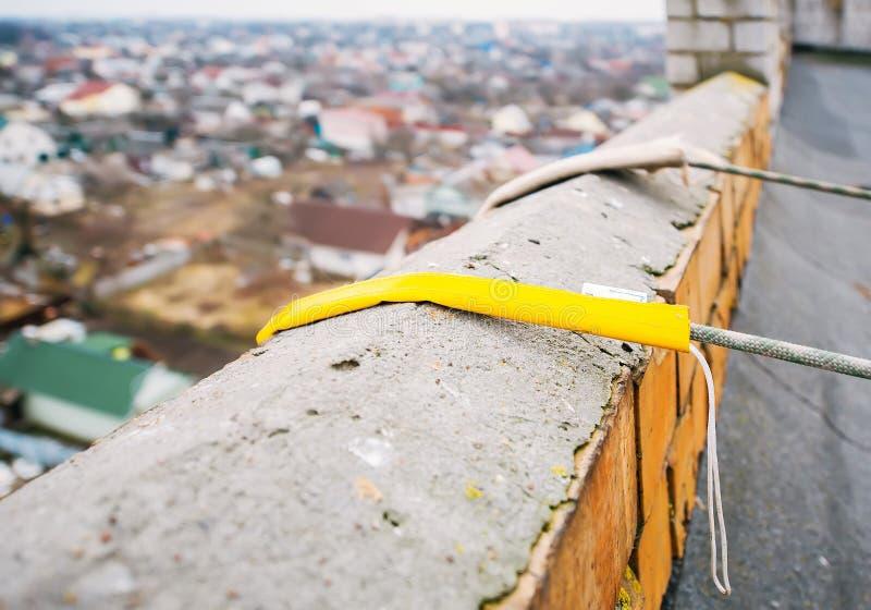 Säkerhetsapparat som förbinder det statiska repet royaltyfri bild