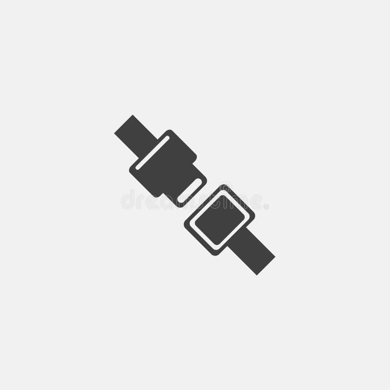 Säkerhetsbältesymbol royaltyfri illustrationer